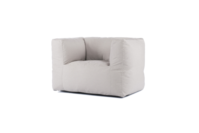 Bryck Chair 1 zits  SMOOTH COLLECTION Semi-white 1