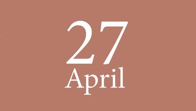 Shopmoment dinsdag 27 april