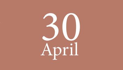 Shopmoment vrijdag 30 april