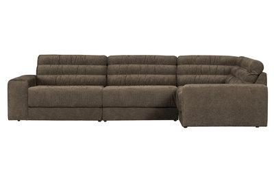 BePureHome date chaise longue rechts vintage warm grijs