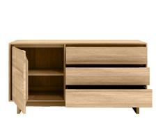 Ethnicraft: Oak Wave Sideboard 1 door 3 drawers