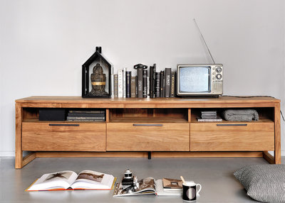 Ethnicraft: LF Collection TV Cupboard, 3 drawers