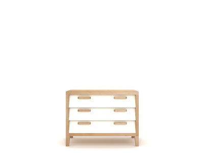 Ethnicraft chest 60'S oak 3 drawers cream