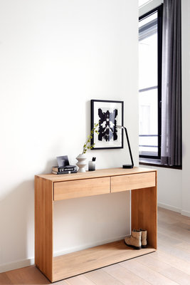 Ethnicraft: Oak Nordic Console 2 drawers 120