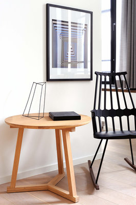 Ethnicraft: Tripod side table eiken 70