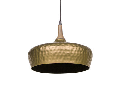 BePure Hanglamp Dents mat goudkleur metaal