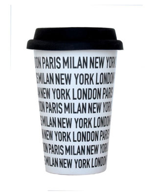 Take away Mug ' New York London Milan'