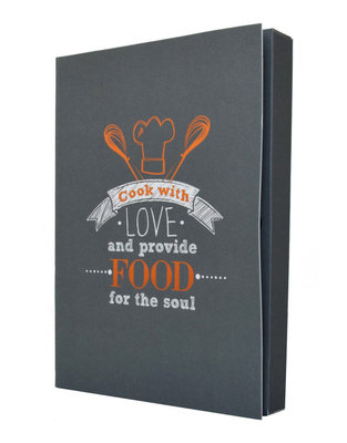 Notebook ' Cook with love and provide food for the soul '