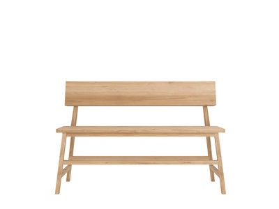 Ethnicraft N2 Lounge Bench Oak 120 cm
