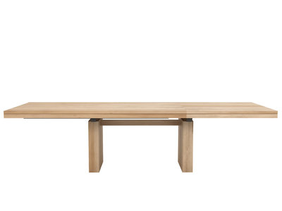 Ethnicraft Double extendable dining table oak