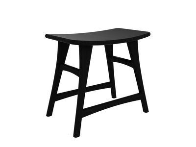 Ethnicraft Osso stool blackstone oak low