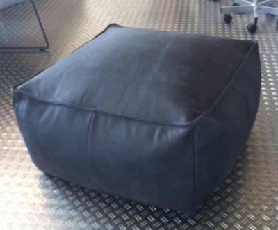 Fred de la Bretoniere: Athos vierkante hocker kleur Super Black