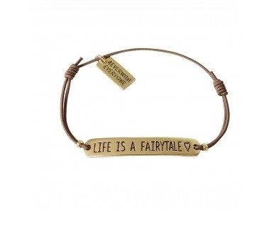 4everwitheveryone armbandje: Life is a fairtytale