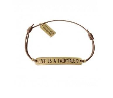 4everwitheveryone armbandje: Life is a fairtytale