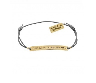 4everwitheveryone armbandje: I love you to the moon and back