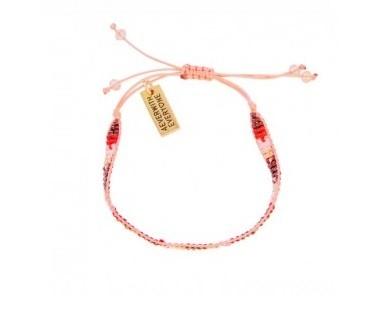 4everwitheveryone armbandje: Kraaltjes roze