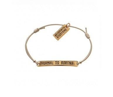 4everwitheveryone armbandje: Normal is boring