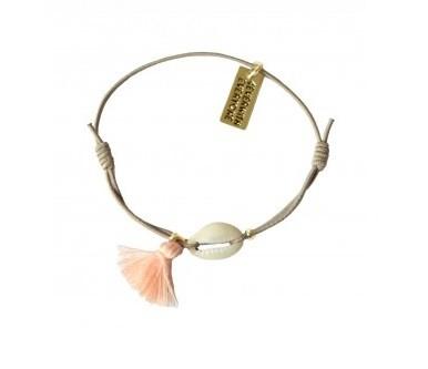 4everwitheveryone armbandje roze met schelp