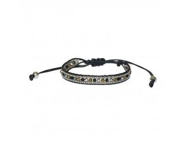 4everwitheveryone armbandje: Kraaltjes zwart