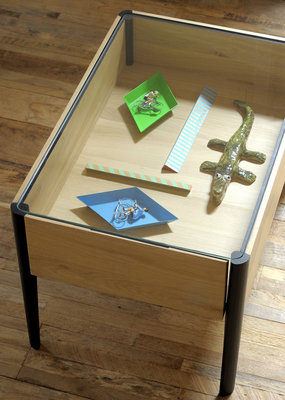 Ethnicraft Window coffee table glass
