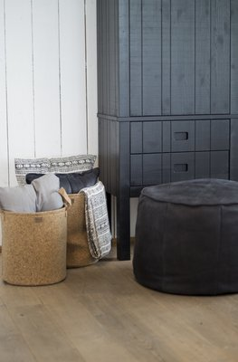 Fred de la Bretoniere: Giro ronde hocker kleur Super Black
