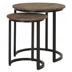 D-Bodhi set van 2 side table round high