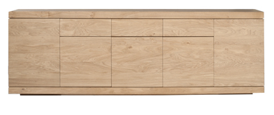 Ethnicraft Burger sideboard 5 push open doors oak