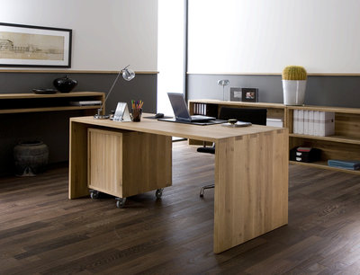 Ethnicraft: Office Oak U bureau