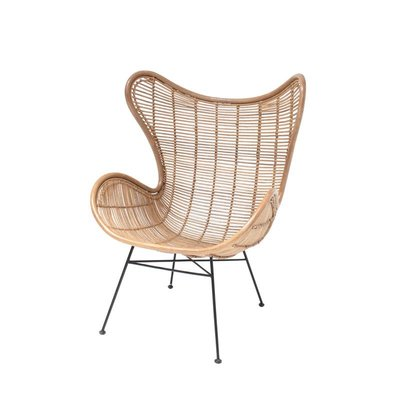 HK Living Rotan Egg chair natural
