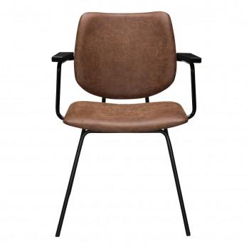 Bodilson Fesh stoel micro leather cognac (per 2)