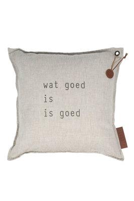 Zusss: Kussen tekst: Wat goed is is goed