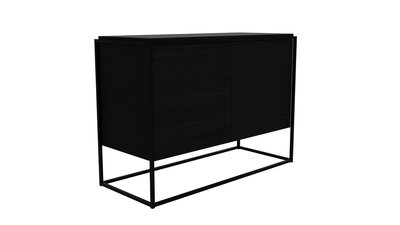 Ethnicraft Monolit sideboard 2 drs black oak