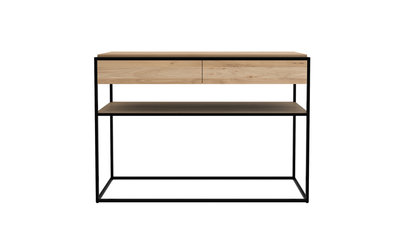 Ethnicraft Monolit console oak black metal