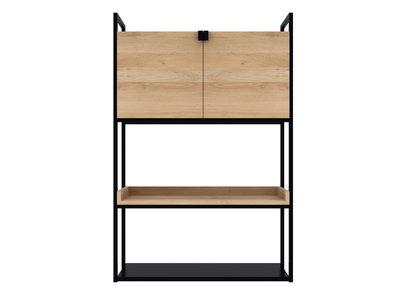 Ethnicraft oak Cell unit storage cupboard