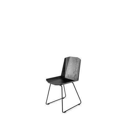 Ethnicraft oak facette dining chair black
