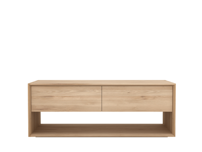Ethnicraft Nordic tv cupboard oak 1 flip down deur 1 lade