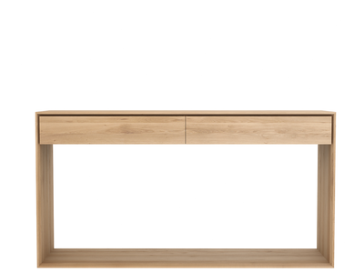 Ethnicraft Oak Nordic Console 2 drawers 160