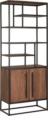 D-Bodhi Fendy boekenkast 2 deuren 7 open vakken