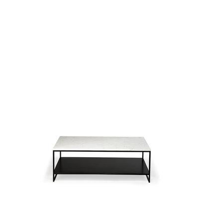 Ethnicraft Anders stone coffee table carrara marble 2 shelves rechthoekig