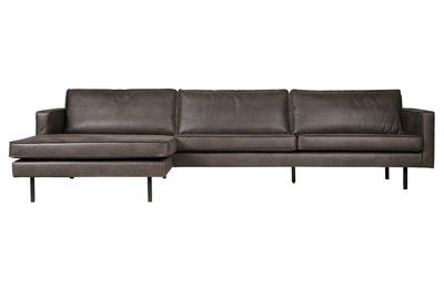 BePureHome Rodeo chaise longue bank links zwart