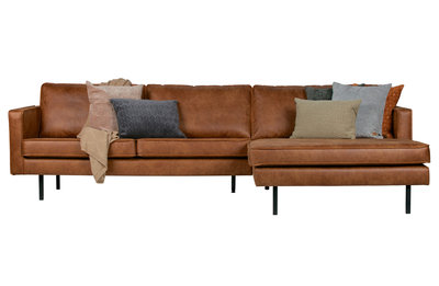 BePureHome Rodeo chaise longue bank rechts cognac