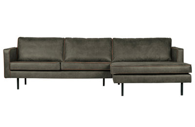BePureHome Rodeo chaise longue bank rechts army green
