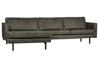 BePureHome Rodeo chaise longue bank links army green