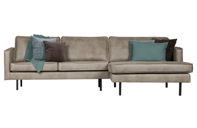 BePureHome Rodeo chaise Lounge Rechts elephant skin