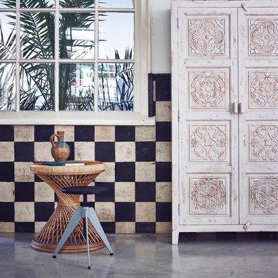 HK Living hand carved wooden cabinet