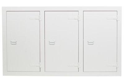 Vt wonen Bunk cabinet grenen bandzaag wit