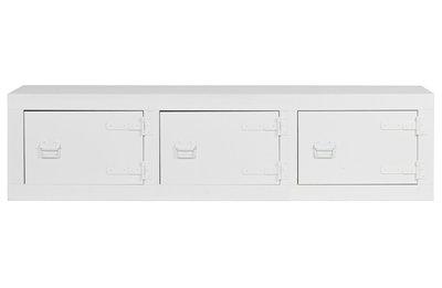 Vt wonen Bunk depot/tv meubel grenen bandzaag wit