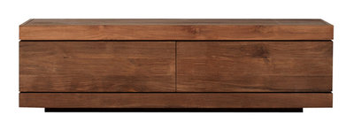 Ethnicraft: Burger Teak TV Cupboard low 1 klep /1 lade