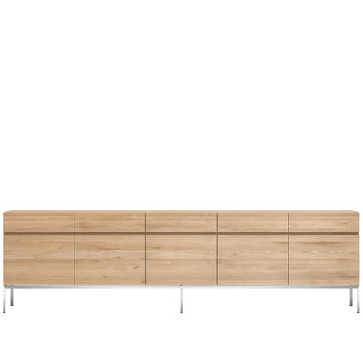 Ethnicraft Ligna sideboard oak 5 doors 5 drawers