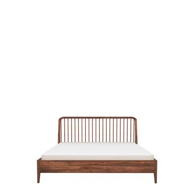 Ethnicraft walnut Spindle bed 160-200